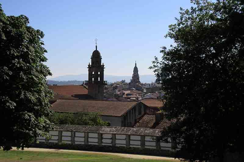 Vistas de Santiago de Compostela desde el Parque de Bonaval